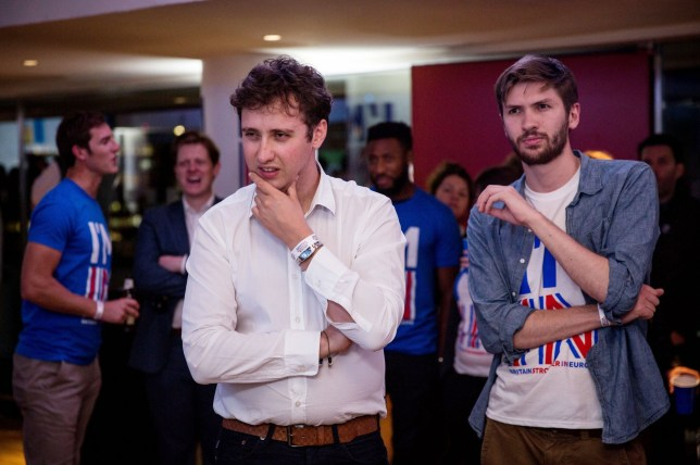 Supporters of the Stronger In campaign react after hearing results in the EU referendum at London's Royal Festival Hall. PRESS ASSOCIATION Photo. Picture date: Friday June 24, 2016. See PA story POLITICS EU. Photo credit should read: Rob Stothard/PA Wire
