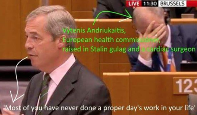Nigel Farage EU speech lead to MEP facepalm and #weareseat123