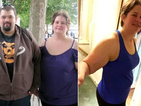 Woman lost eight stone after seeing her brother's extra large coffin