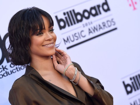 Rihanna sends hot pizza and towels to rain-soaked fans in Manchester