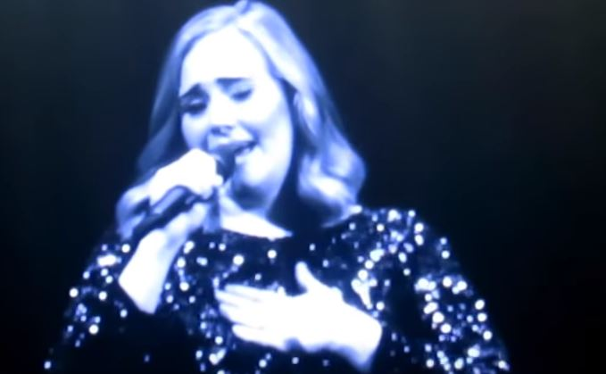 The singer welled up during her concert in Antwerp (Picture: Mr.Justmichael/YouTube)