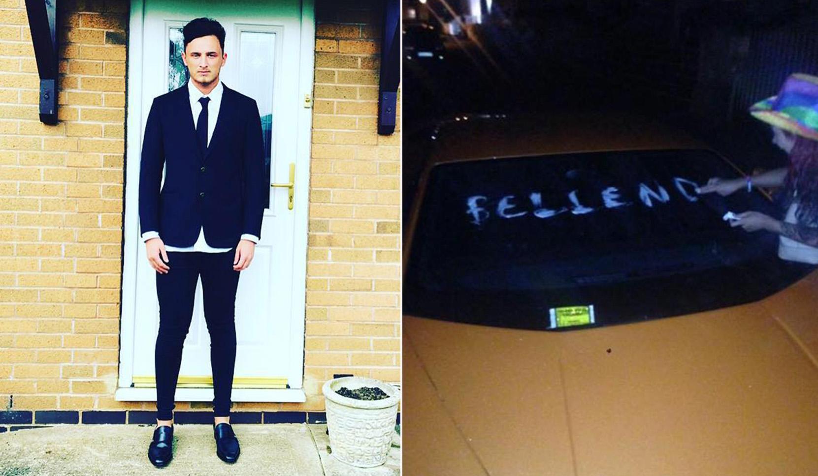 Lamborghini driver's revenge after someone wrote 'bellend' on his car