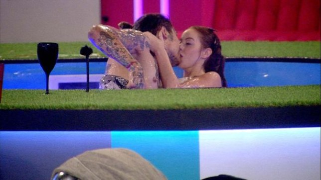 Marco and Laura can't keep their hands off each other (Picture: Channel 5)