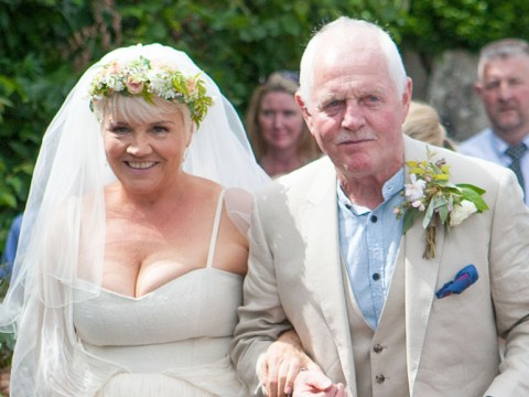 Emmerdale stars Chris Chittell and Lesley Dunlop tie the knot in front of co-stars