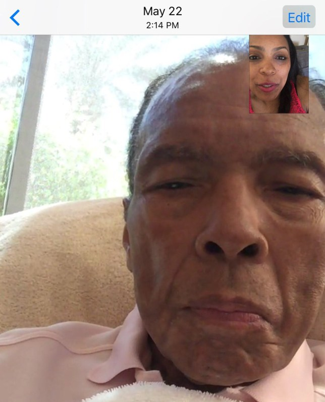 Ali's daughter releases last picture of her father
