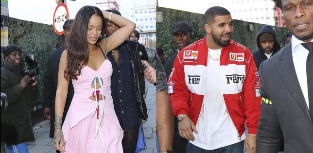 Picture Shows: Drake June 29, 2016 Rihanna and Drake spotted leaving Tape nightclub at 6am after throwing a surprise birthday party for Nicole Scherzinger in London, England. Non Exclusive WORLDWIDE RIGHTS Pictures by : FameFlynet UK © 2016 Tel : +44 (0)20 3551 5049 Email : info@fameflynet.uk.com