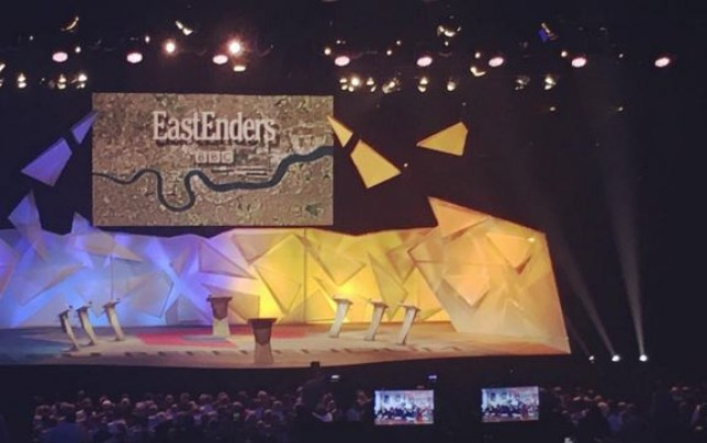 BBC plays EastEnders before the Great Debate (Picture: Instagram)