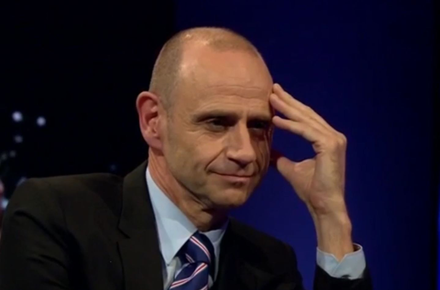 Evan Davis appeared to become frustrated (Picture: BBC Newsnight)