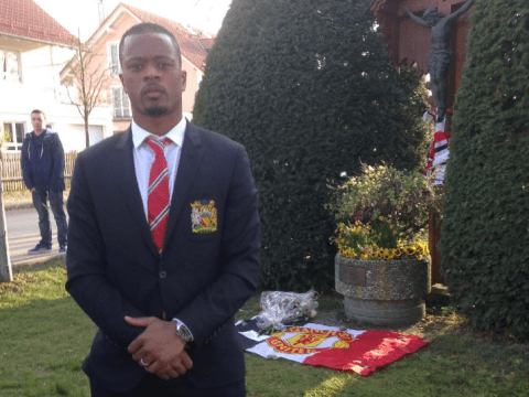 Patrice Evra proves he has Manchester United in his blood with touching Munich disaster tribute