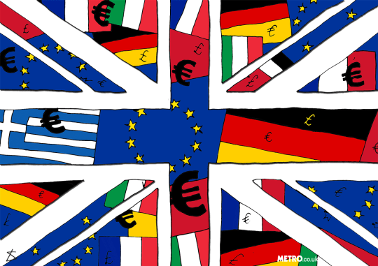 'Britishness' is Greek, the monarchy is of German descent, so why are we so scared to be European? Illustration_Liberty-Antonia-Sadler_Metro