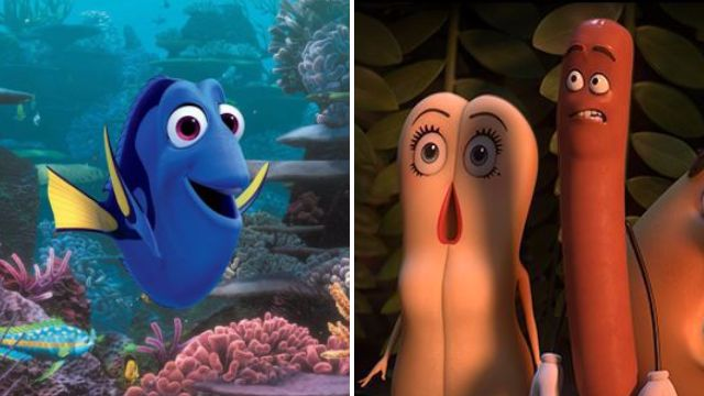 Finding Dory viewers left fuming after trailer for sweary Seth Rogen cartoon Sausage Party is shown before film