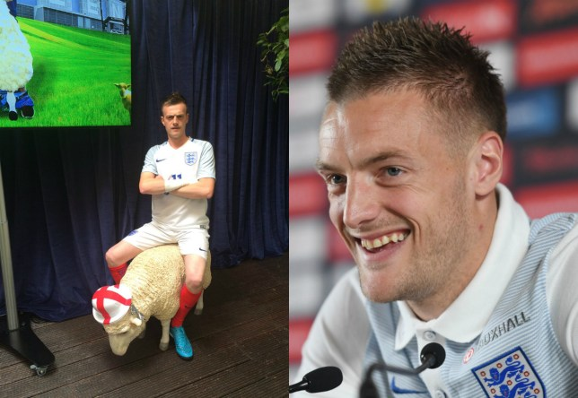 Vardy was forced to bat away questions about his lookalike (Picture: Getty Images/Twitter)