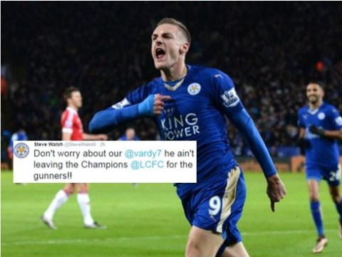 Leicester City legend Steve Walsh believes Jamie Vardy will not quit the club for Arsenal