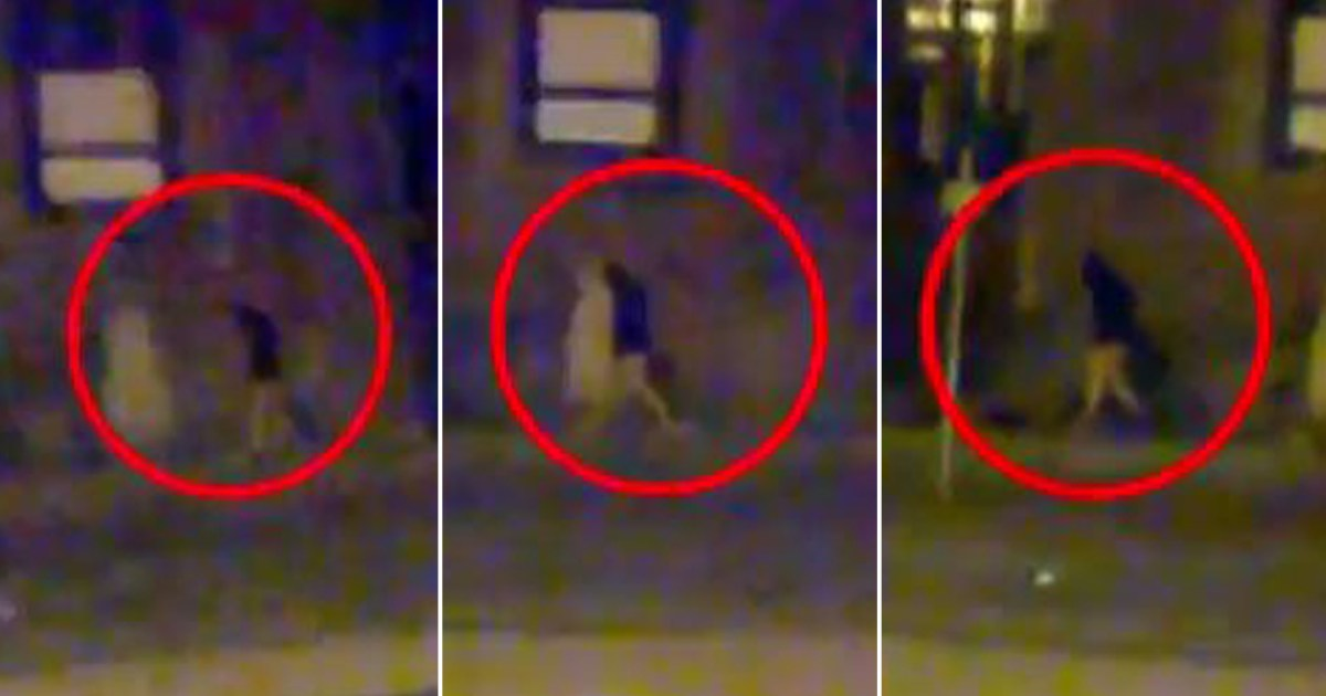 Serial flasher in Exeter caught on camera after walking through