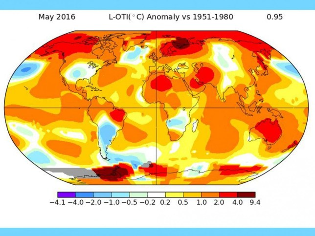 May was the hottest month ever