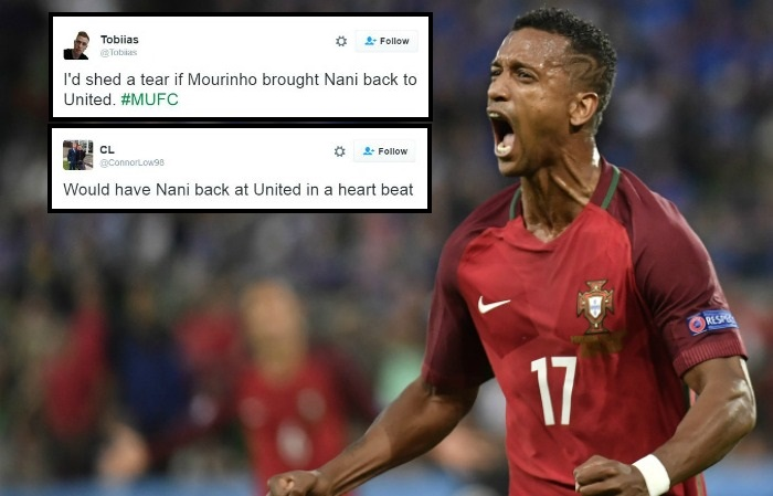 Manchester United fans urge Jose Mourinho to re-sign Nani after Portugal performance