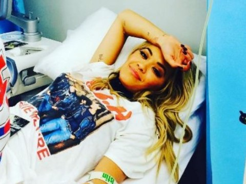 Rita Ora rushed to hospital with 'exhaustion' – but she had time to post a bed selfie