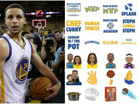 Steph Curry warms up for NBA playoff finals with new Stephmoji app