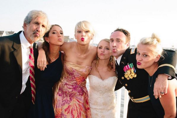 Taylor Swift surprised fans by turning up at their wedding (Picture: Instagram)