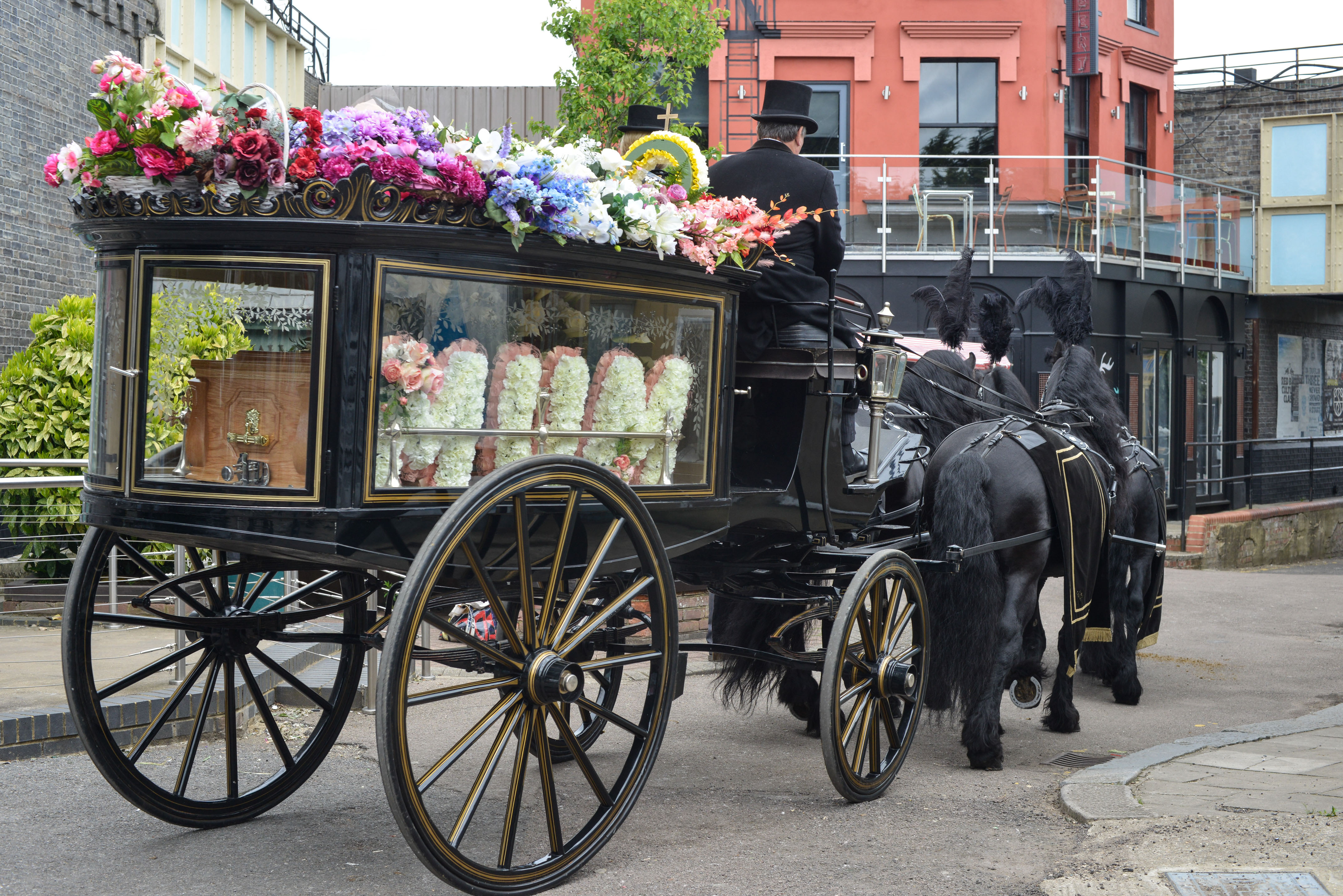EastEnders spoilers: First look at Peggy Mitchell's funeral scenes