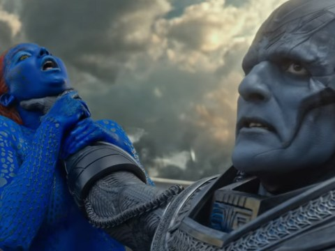 X-Men fans are pretty pissed off with a poster that shows Jennifer Lawrence getting strangled