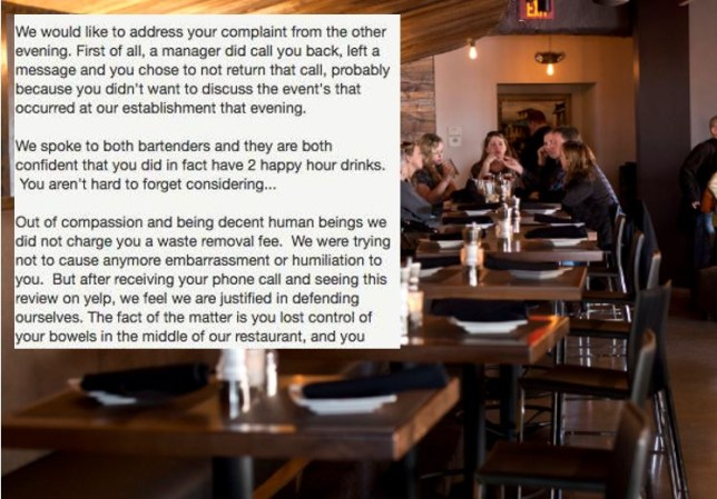 Restaurant Hits Back At Negative Yelp Review By Claiming Customer