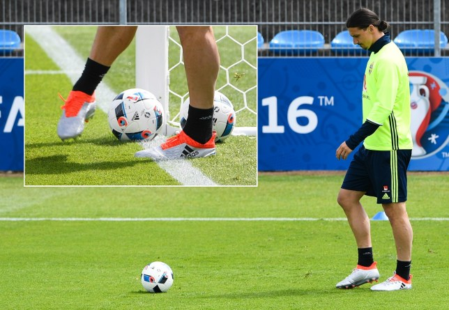 Ibrahimovic has worn Nike boots since he was at Ajax (Picture: Getty Images)