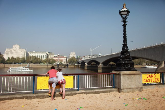 You can build a sand castle even in the middle of London (Picture: Oli Scarff/Getty Images)