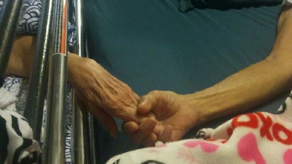 Elderly couple die hand-in-hand