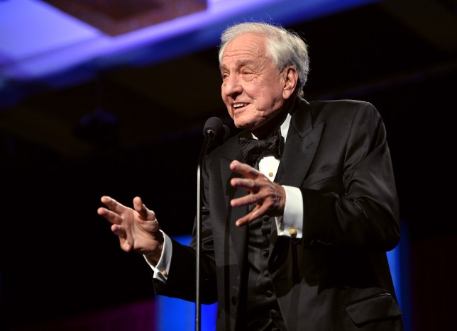 """Garry Marshall accepts the """"Paddy Chayefsky Laurel Award for Television Writing Achievement"""" onstage at the 2014 Writers Guild Awards L.A. Ceremony at J.W. Marriott at L.A. Live on February 1, 2014 in Los Angeles, California. (Photo by Alberto E. Rodriguez/Getty Images for WGAw)"""
