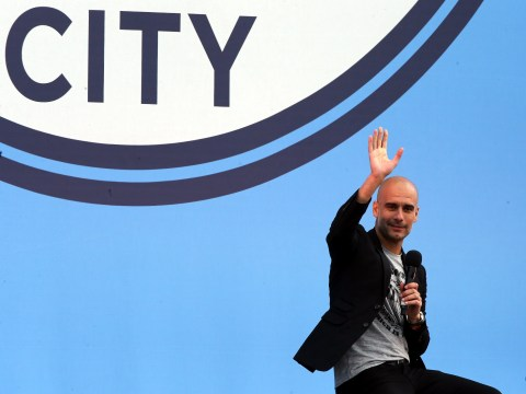 Pep Guardiola meets Manchester City and promises to 'hug and kick the a****' of his players