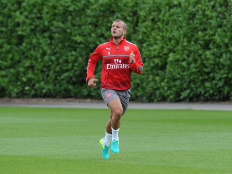 Jack Wilshere is already back training with Arsenal despite having been away with England at Euro 2016