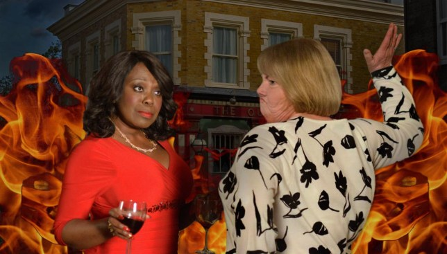 EastEnders - Claudette takes on Aunt Babe Credit: BBC/Getty Images/Metro.co.uk