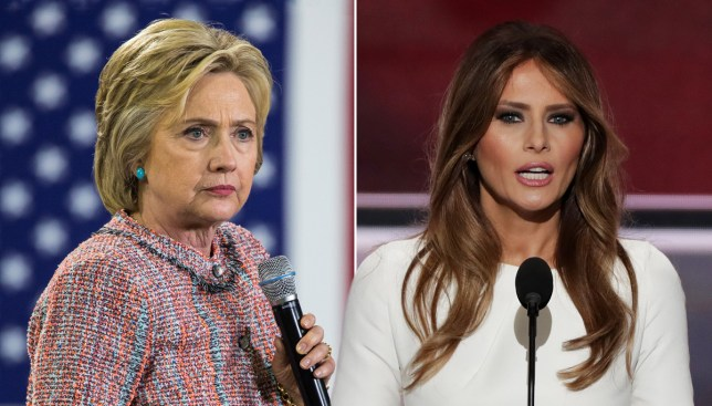 It's Hillary Clinton's fault that Trump's wife plagiarised Michelle Obama Credit: Getty Images