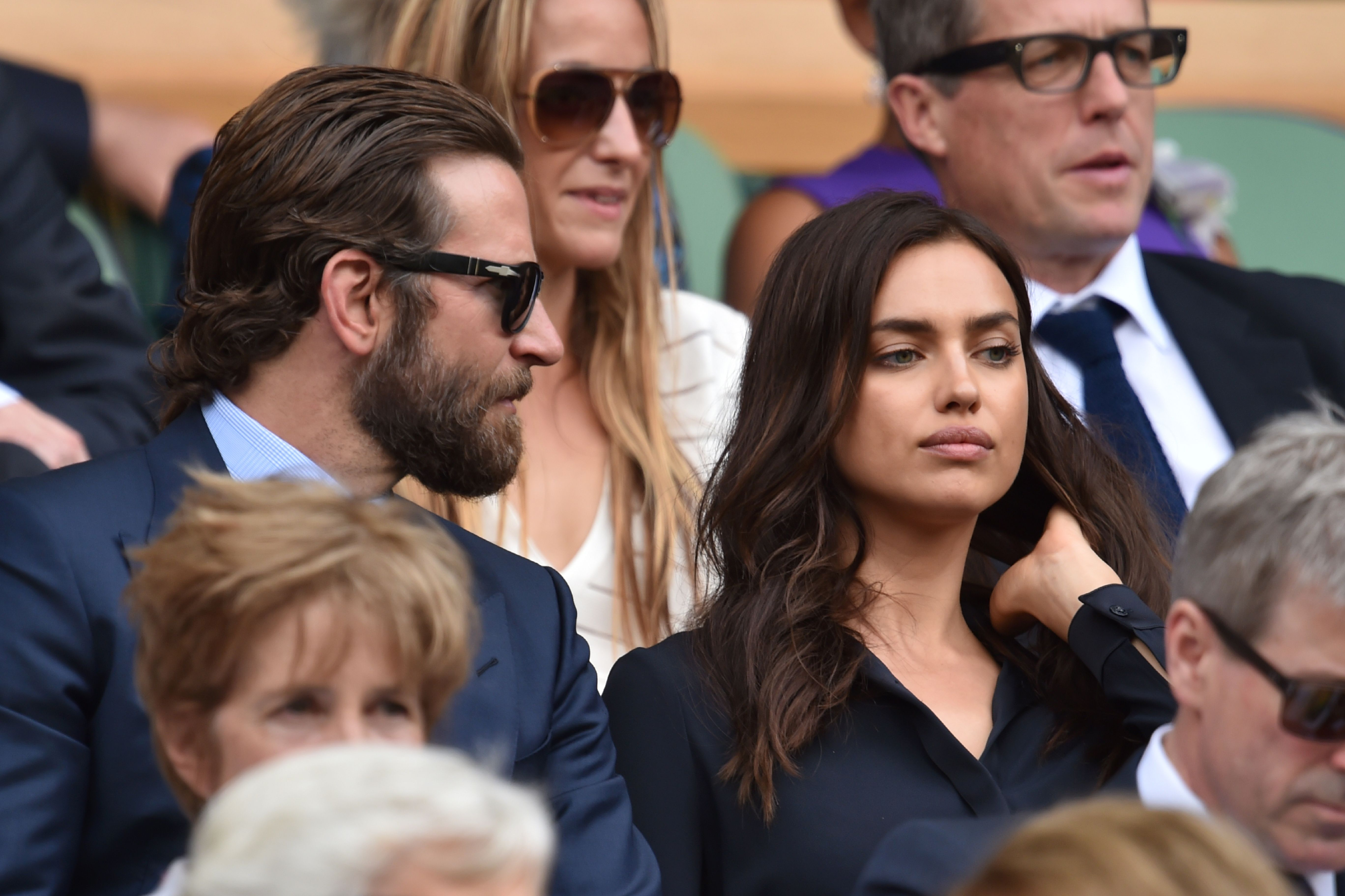 Things seemed tense between Bradley Cooper and Irina Shayk ((Picture: AFP/Getty)