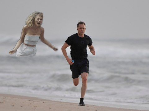 Tom Hiddleston looked lonely on his run so we gave him A LOT company