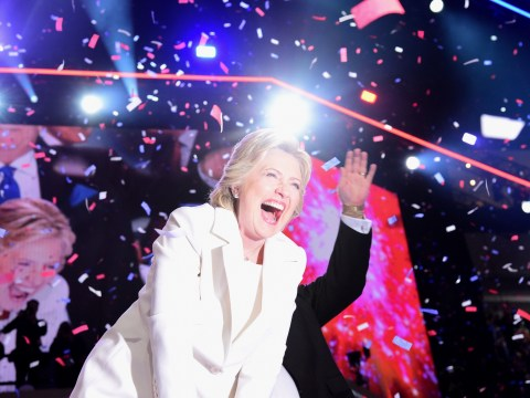 People were really happy at the Democratic National Convention, especially Hillary