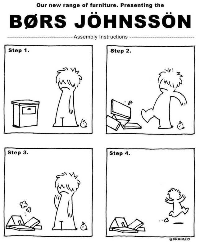 Boris Johnson 'BØRS JÖHNSSÖN' Ikea assembly instructions