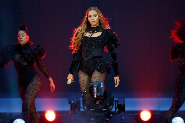 IMAGE DISTRIBUTED FOR PARKWOOD ENTERTAINMENT - Beyonce performs during the Formation World Tour at Wembley stadium on Saturday, July 2, 2016, in London. (Photo by Joel Ryan/Invision for Parkwood Entertainment/AP Images)