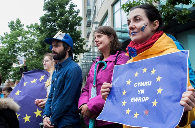 Wales has changed its mind about Brexit, poll suggests. Mandatory Credit: Photo by Tracey Paddison/REX/Shutterstock (5738049l)nWales in EuropenCardiff for Europe, Wales, UK - 28 Jun 2016nn
