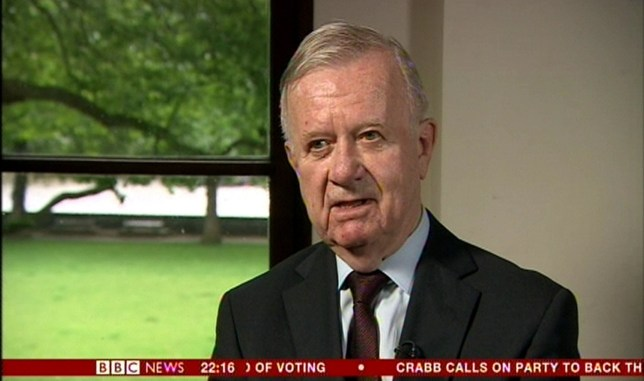 TV OUT. ALL BROADCAST WEBSITES OUT. No cropping permitted. Picture must be credited to BBC News. We are advised that videograbs should not be used more than 48 hours after the time of original transmission, without the consent of the copyright holder. Video grab taken from BBC News of Sir John Chilcot, speaking during a pre-recorded interview, as the long-awaited official inquiry report into Britain's bitterly contested invasion of Iraq will finally be published on Wednesday amid calls for Tony Blair to be held to account for taking the country to war. PRESS ASSOCIATION Photo. Issue date date: Tuesday July 5, 2016. See PA story POLITICS Chilcot. Photo credit should read: BBC News/PA Wire NOTE TO EDITORS: Not for use more than 21 days after issue. You may use this picture without charge only for the purpose of publicising or reporting on current BBC programming, personnel or other BBC output or activity within 21 days of issue. Any use after that time MUST be cleared through BBC Picture Publicity. Please credit the image to the BBC and any named photographer or independent programme maker, as described in the caption.