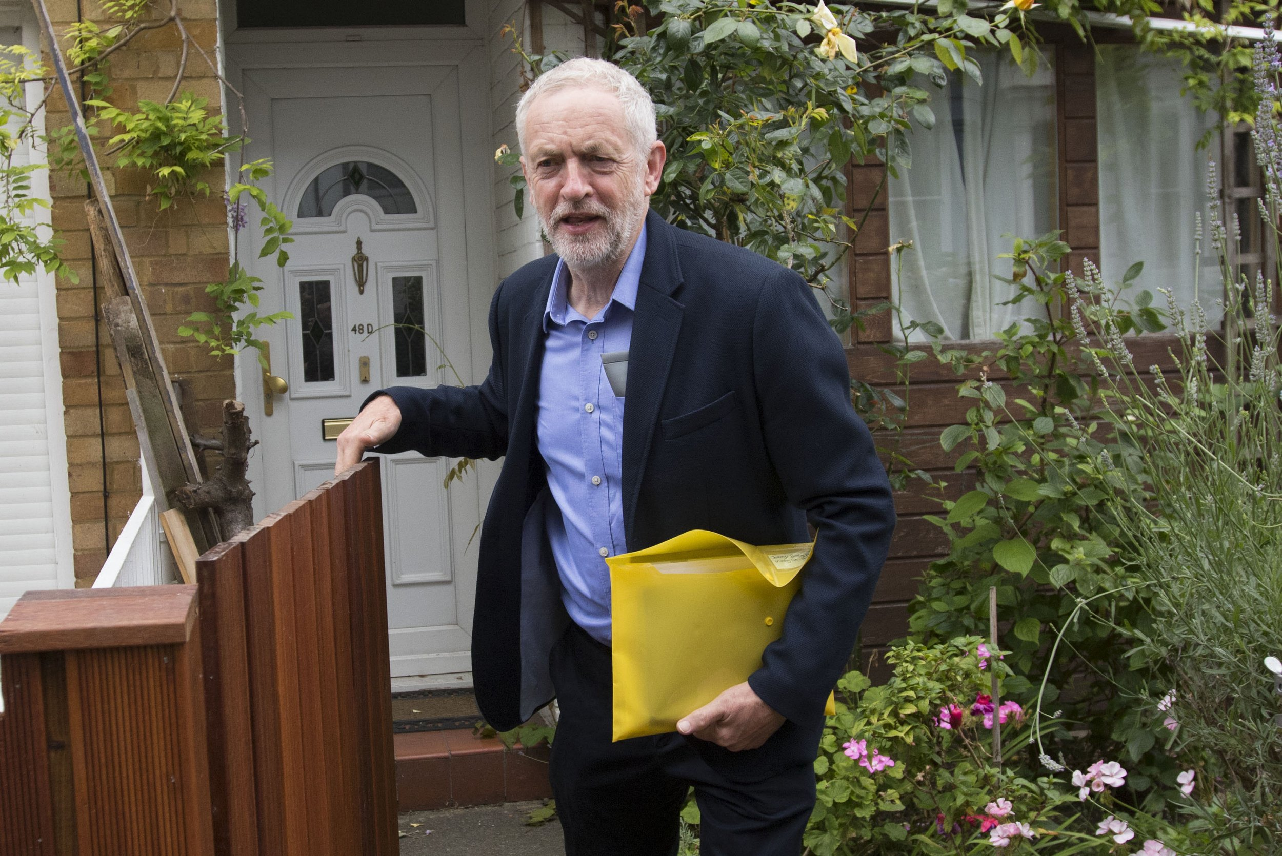 Labour Party leader Jeremy Corbyn leaves his home in north London, as Angela Eagle insisted she can save Labour as she prepares to formally launch a leadership contest with the potential to rip the party apart. PRESS ASSOCIATION Photo. Picture date: Monday July 11, 2016. The former shadow business secretary is hoping to oust Corbyn amid warnings the bitter rows over the party leadership could lead to a legal wrangle or lasting split. See PA story POLITICS Labour. Photo credit should read: Rick Findler/PA Wire