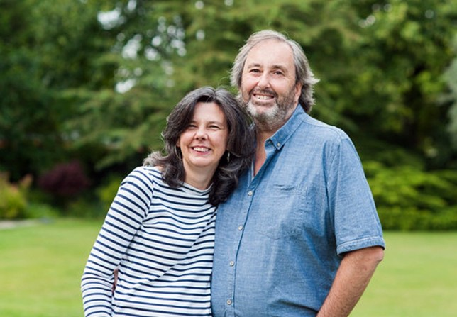 Helen Bailey, from Royston, author of When Bad Things Happen in Good Bikinis, with Ian Stewartn