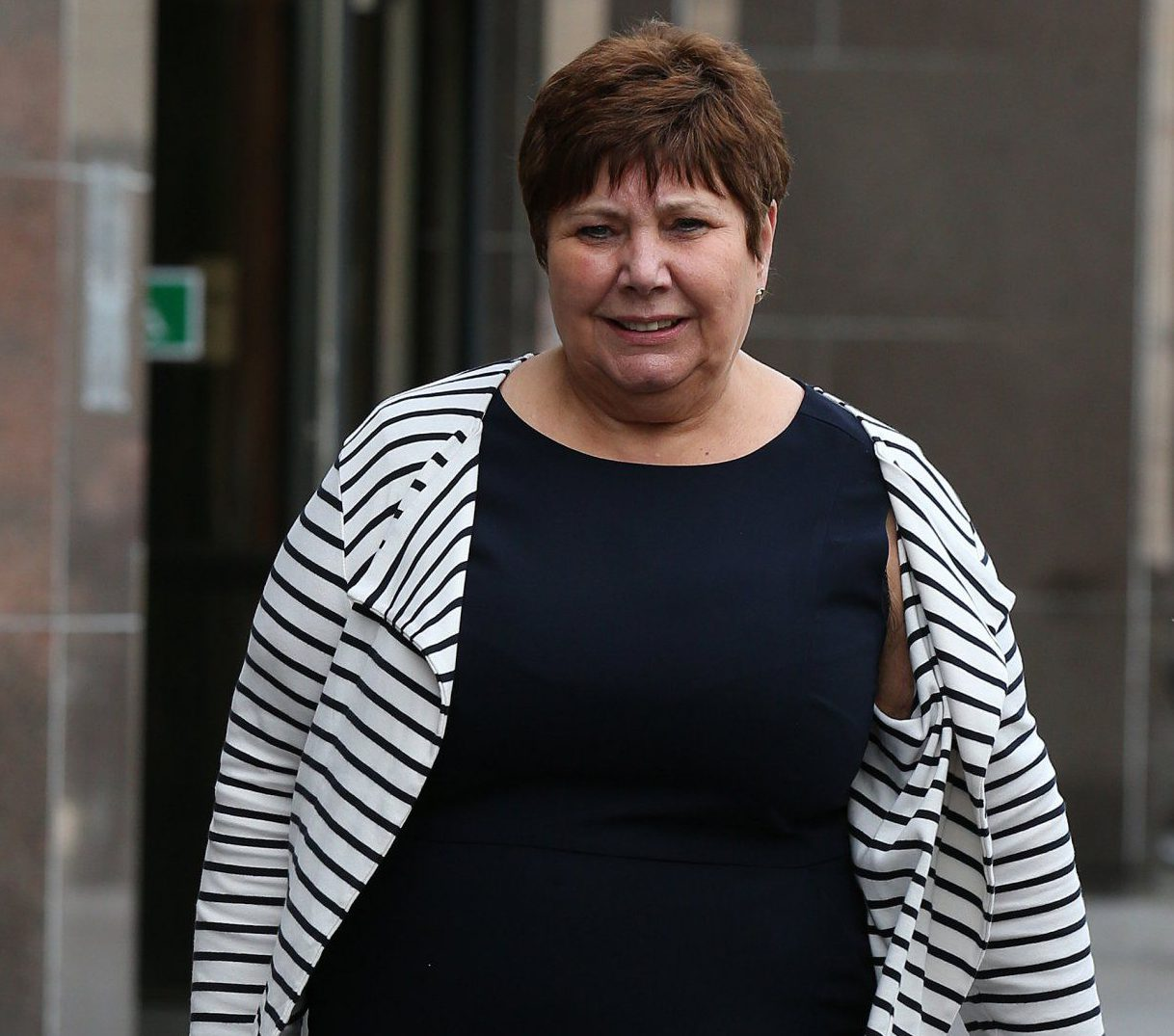 Labour MP Marie Rimmer leaves Glasgow Sheriff Court where she had appeared after being accused of kicking a Yes campaigner on the day of the Scottish independence referendum. The case against Ms Rimmer collapsed because the word Glasgow was not included in court papers outlining the charge. PRESS ASSOCIATION Photo. Picture date: Monday August 3, 2015. See PA story COURTS Referendum. Photo credit should read: Andrew Milligan/PA Wire