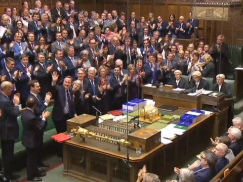 David Cameron gets standing ovation as he says his final words at Prime Minister's Questions