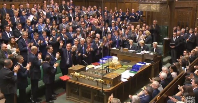Prime Minister David Cameron waves after finishing his last last Prime Minister's Questions in the House of Commons, London. PRESS ASSOCIATION Photo. Picture date: Wednesday July 13, 2016. Photo credit should read: PA Wire