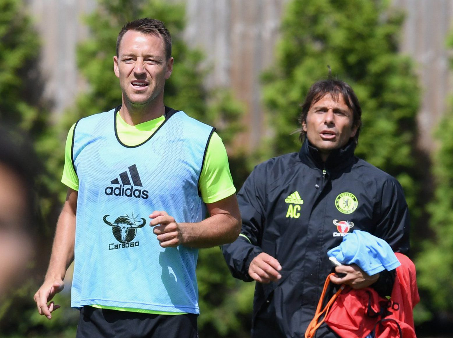 COBHAM, ENGLAND - JULY 13: Antonio Conte, John Terry at Chelsea Training Ground on July 13, 2016 in Cobham, England. (Photo by Darren Walsh/Chelsea FC via Getty Images)