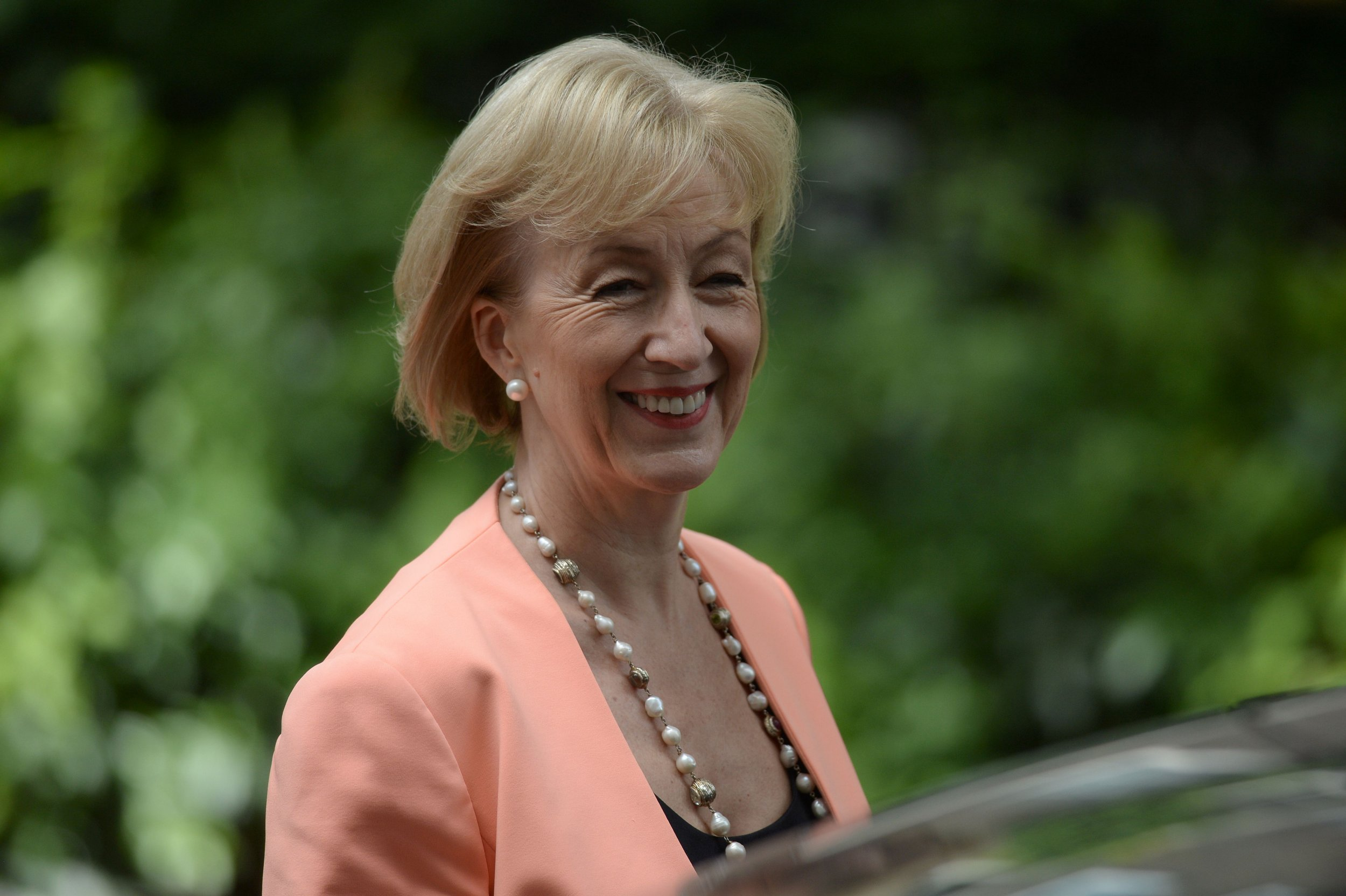 "Leadsom: male carers might be paedophiles Newly appointed British Environment, Food and Rural Affairs Secretary Andrea Leadsom leaves Downing Street in central London on July 14, 2016, as cabinet appointments by new prime minister Theresa May are made on her first full day in office. Theresa May began her first full day as British prime minister July 14 under pressure to implement Brexit, after stunning observers by picking gaffe-prone ""Leave"" campaigner Boris Johnson as her top diplomat. / AFP PHOTO / OLI SCARFFOLI SCARFF/AFP/Getty Images"
