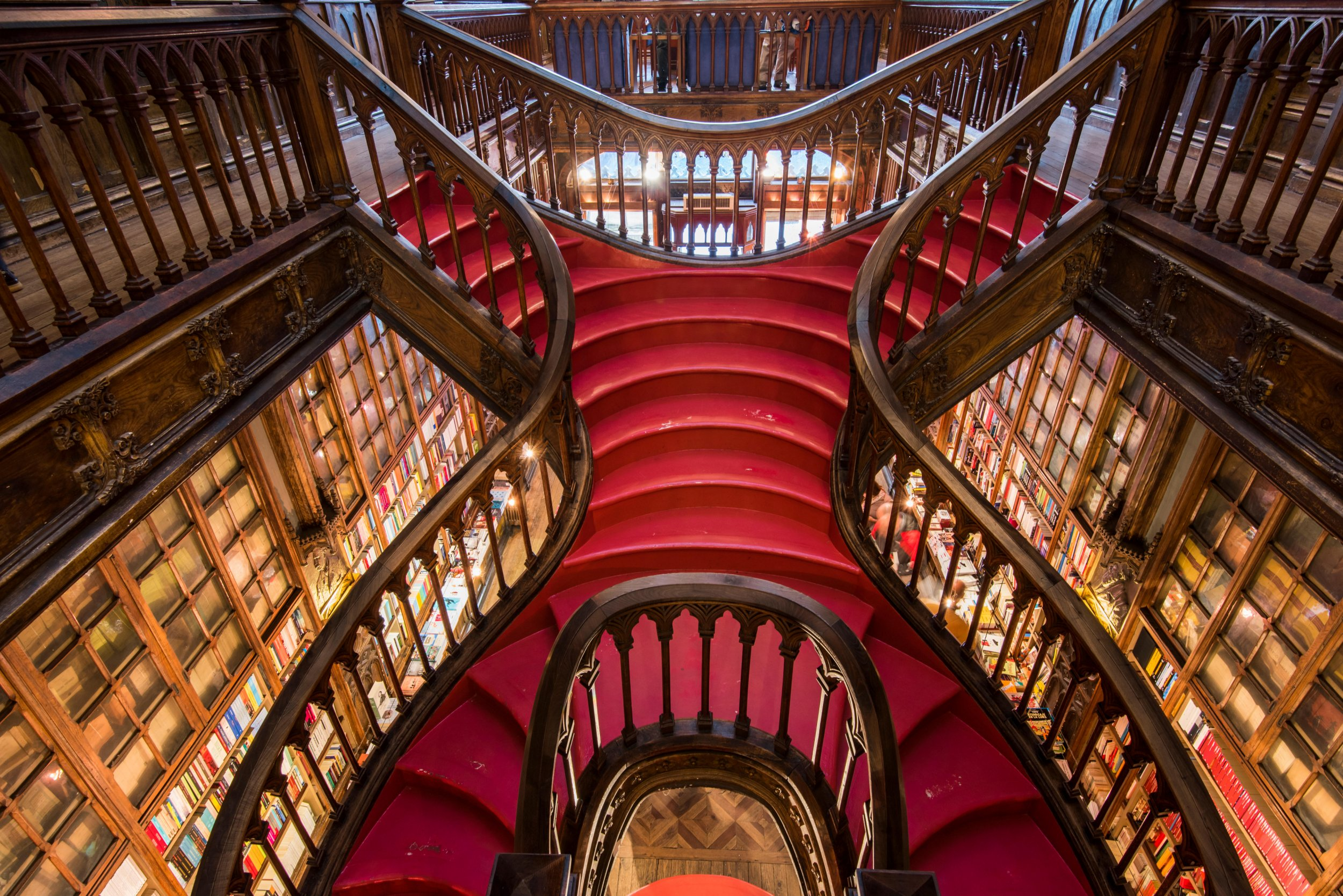 FWB90F Livraria Lello & Irmao bookstore, Porto, Portugal