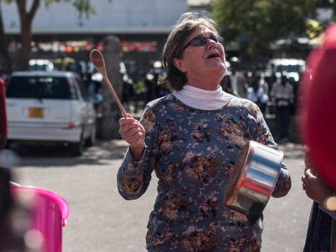 Woman are beating pots to bring down the Zimbabwe government